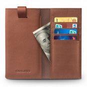 Qialino Universal Pouch Wallet i äkta läder - Brun (Brun)