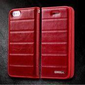 Rock Elite Series Flip väska till Apple iPhone 5S/5 (Röd)
