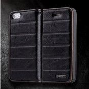 Rock Elite Series Flip väska till Apple iPhone 5/5S/SE (Svart)