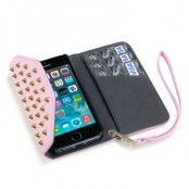 Studded Rock Chic Plånboksfodral till Apple iPhone 5/5S/SE - Rosa
