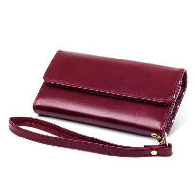 Trifold Plånboksfodral till iPhone 5/5S/SE - Röd