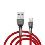 Baseus Mageweave Lightning-kabel 2A 1 m - Röd