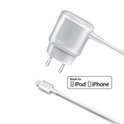 Celly Laddare Lightning MFI 1A Vit iPhonetillbehörsbutiken