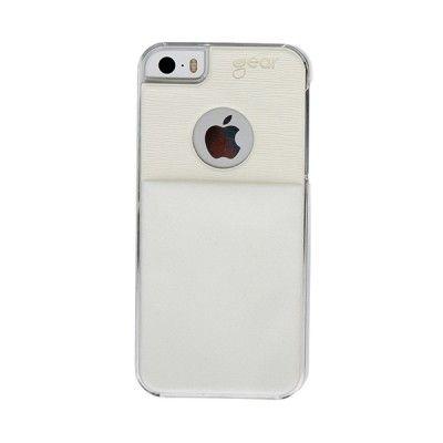GEAR iPhone5S Skal Vit kortficka på skalets baksida