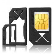 ITSkins 3 in 1 Nano Sim / Micro Sim Adapter (3st)
