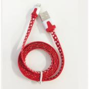 Lightning till USB kabel-Rödprickig