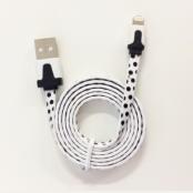 Lightning till USB kabel-vitprickig