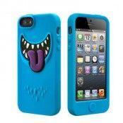 SwitchEasy Monsters Silikonskal till iPhone 5S/5 (Blå) + Skärmskydd