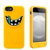 SwitchEasy Monsters Silikonskal till iPhone 5S/5 (Gul) + Skärmskydd
