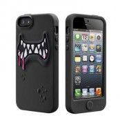 SwitchEasy Monsters Silikonskal till iPhone 5S/5 (Svart) + Skärmskydd