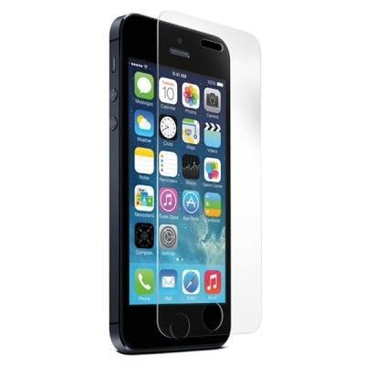 Vipo transp skärmskydd härdat glas iPhone 5/5S/5C, 0,33mm tjock, putsduk