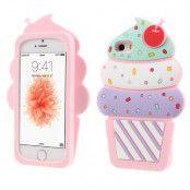 3D Cherry Ice Cream Case (iPhone 5/5S/SE) - Ljusrosa