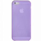 FlexiCase Skal till Apple iPhone 5/5S/SE - X-line (Lila)