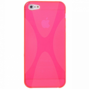 FlexiCase Skal till Apple iPhone 5/5S/SE - X-line (Rosa)