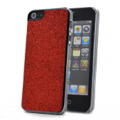 Glitter skal till Apple iPhone 5/5S/SE (Röd)