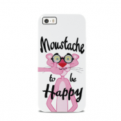 Happiness Apple iPhone 5/5S/SEPink Panther Moustache