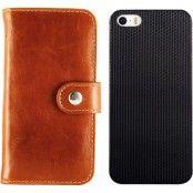 iDeal Premium, plånboksfodral för iPhone 5/5s med magnetiskt skal, brun