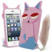 Lazy Fox Silikonskal till Apple iPhone 5S / iPhone 5S/5 (Rosa)