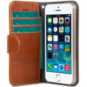 Melkco Wallet Case (iPhone 5/5S/SE) - Brun