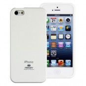 Mercury Color Pearl Jelly FlexiCase Skal till Apple iPhone 5/5S/SE (Vit)