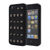 Studded leather pattern FlexiSkal till Apple iPhone 5/5S/SE (Point Dots)
