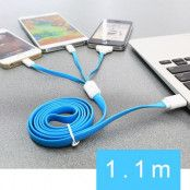 TakeFans 3 in 1 USB laddningskabel till iPhone 5 5s 5c 4s Samsung Sony HTC Etc