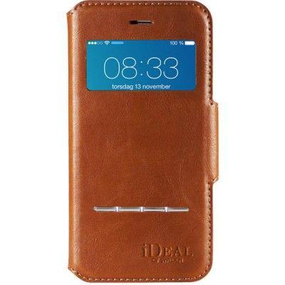 iDeal Premium Swipe Wallet iPhone 6 Plus, avtagbart skal, brun