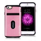 Mercury iPocket Premium skal med kortplats till Apple iPhone 6(S) Plus - Rosa