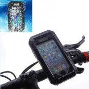 Vattentätt fodral med cykelhållare till iPhone 6/6S Plus - Svart
