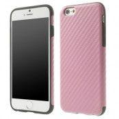 Carbon Fiber Texture FlexiCase skal till Apple iPhone 6 / 6S  (Rosa)