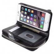 Detachable 2 in 1 Plånboksfodral till Apple iPhone 6 / 6S (Svart)