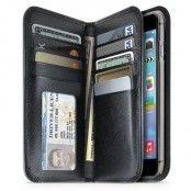 iLuv JStyle Äkta Läder Plånboksfodral till iPhone 6 - Svart