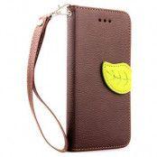 Litchi Leaf Plånboksfodral till Apple iPhone 6 / 6S  - Brun
