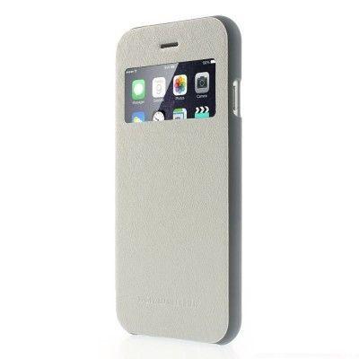 Mercury Wow Bumper Plånboksfodral till Apple iPhone 6 / 6S - Vit