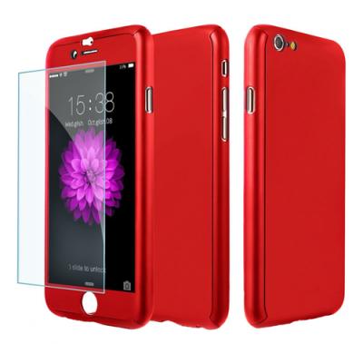 Pavoscreen 360° Helomslutande skal för iPhone 6(S) Plus, röd