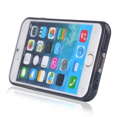 Skal med Qi-laddningsmottagare till iPhone 6 - Svart