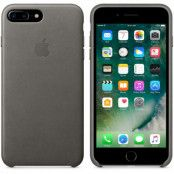 Apple iPhone 7 Plus / 8 Plus Läderskal Original - Stormgrå
