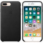 Apple iPhone 7 Plus / 8 Plus Läderskal Original - Svart
