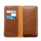 Floveme Universal Pouch Wallet i äkta läder - Brun