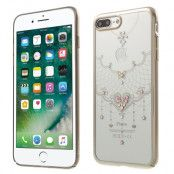 Kavaro Skal med Swarovski stenar till iPhone 7 Plus - Golden Heart