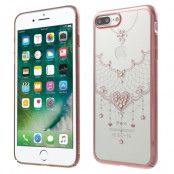 Kavaro Skal med Swarovski stenar till iPhone 7 Plus - Rose Heart