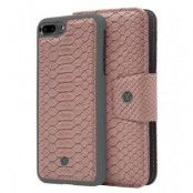 Marvêlle N°301 Plånboksfodral iPhone 7/8 Plus - ASH PINK REPTILE