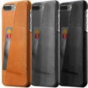 Mujjo Leather Wallet Case (iPhone 8/7 Plus) - Brun