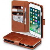 Plånboksfodral av äkta läder till iPhone 7 Plus - Cognac