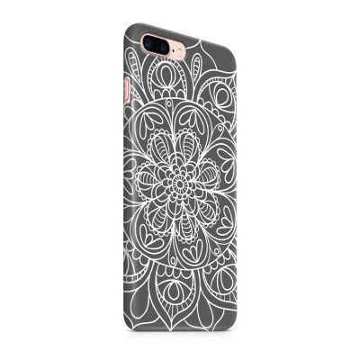 Skal till Apple iPhone 7 Plus - Mandala - Grå