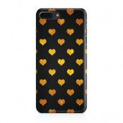 Skal till iPhone 7 Plus & iPhone 8 Plus - Hjärtan - Guld/Svart