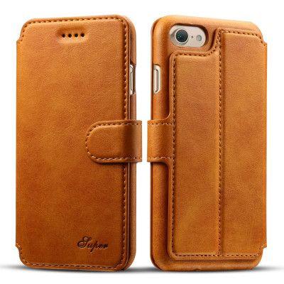 Super Plånboksfodral till iPhone 7 Plus - Camel