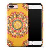 Tough mobilskal till Apple iPhone 7 Plus - Blommigt mönster - Orange
