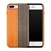 Tough skal till iPhone 7 Plus & iPhone 8 Plus - Lädermotiv