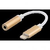 Epzi Lightning till 3,5 mm adapter, aluminium skal, Guld